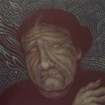 Oliphorest Weaver, 12″ x 12″, acrylic onwood