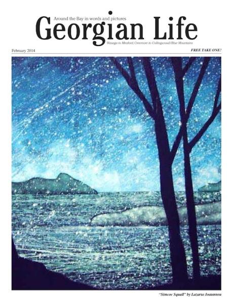 Georgian Life feb2014 Cover: Simcoe Squall